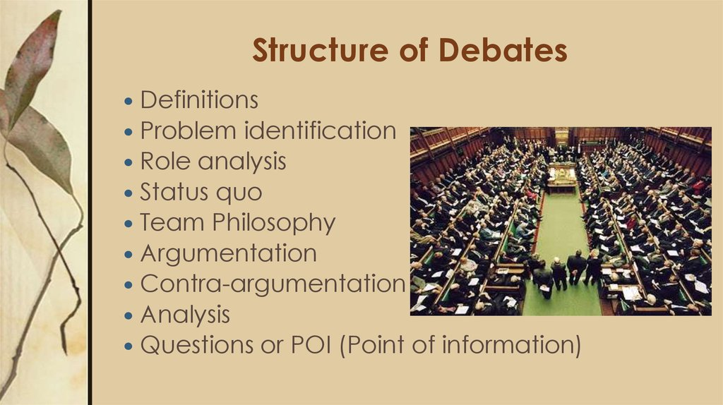 Structure of Debates