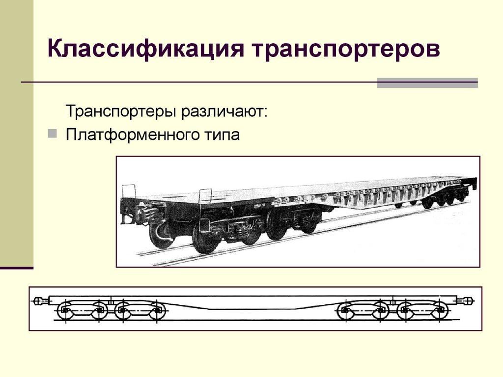 специализированные вагоны транспортеры классификация и устройство