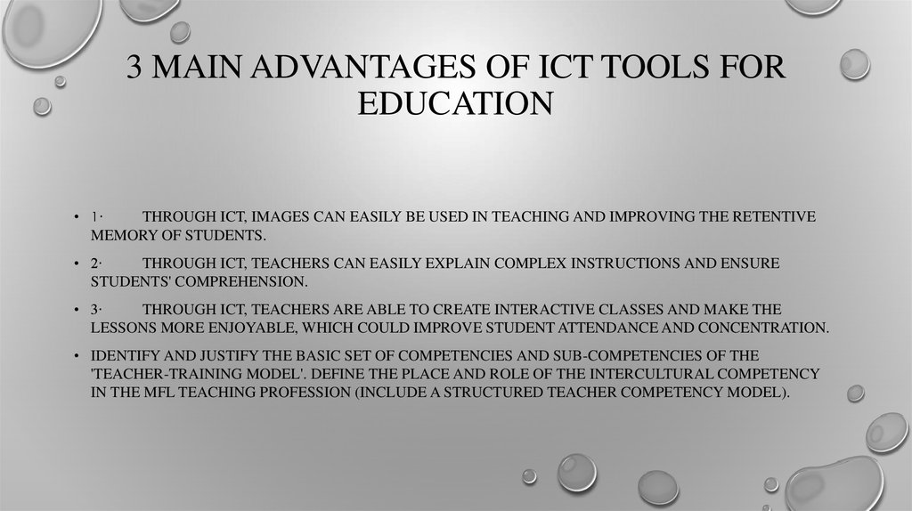 3 MAIN ADVANTAGES OF ICT TOOLS FOR EDUCATION