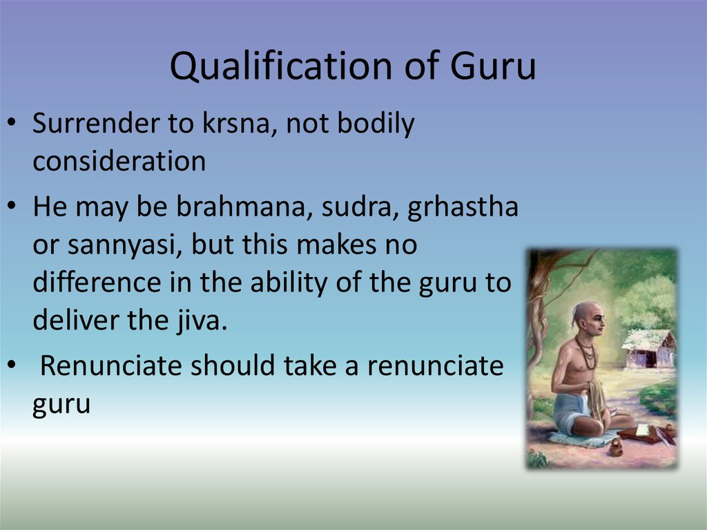Qualification of Guru
