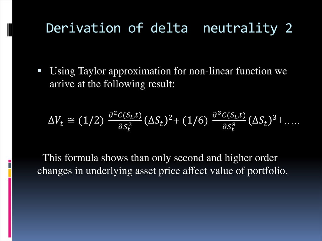 Derivation of delta neutrality 2