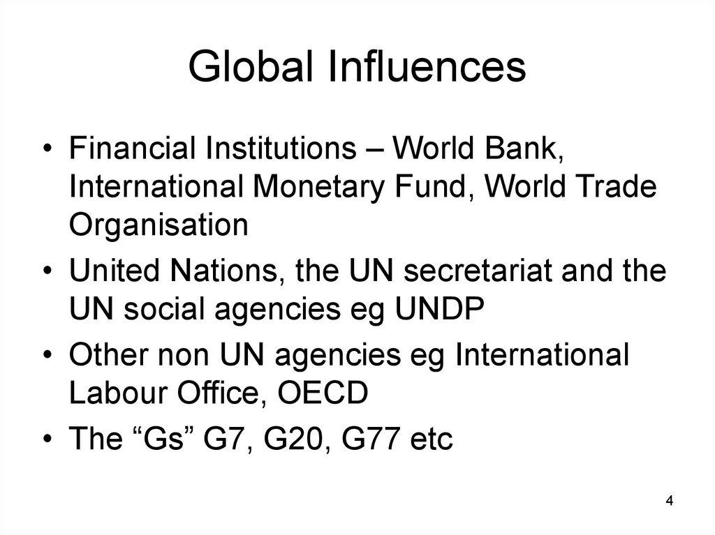 Global Influences