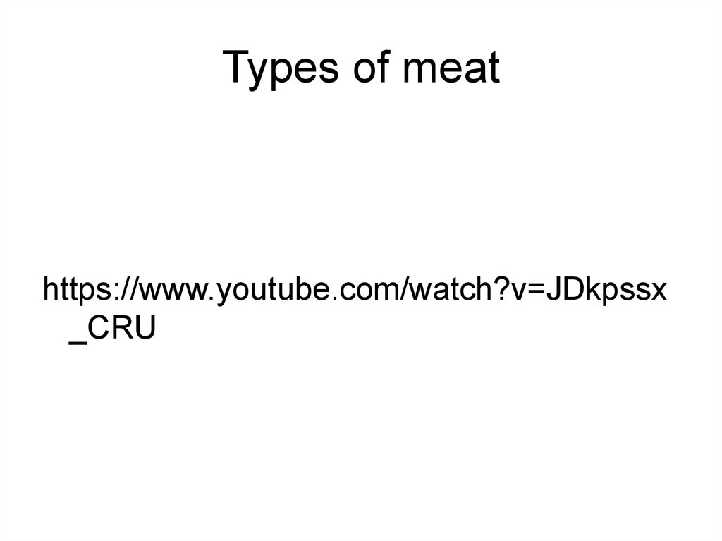 Types of meat