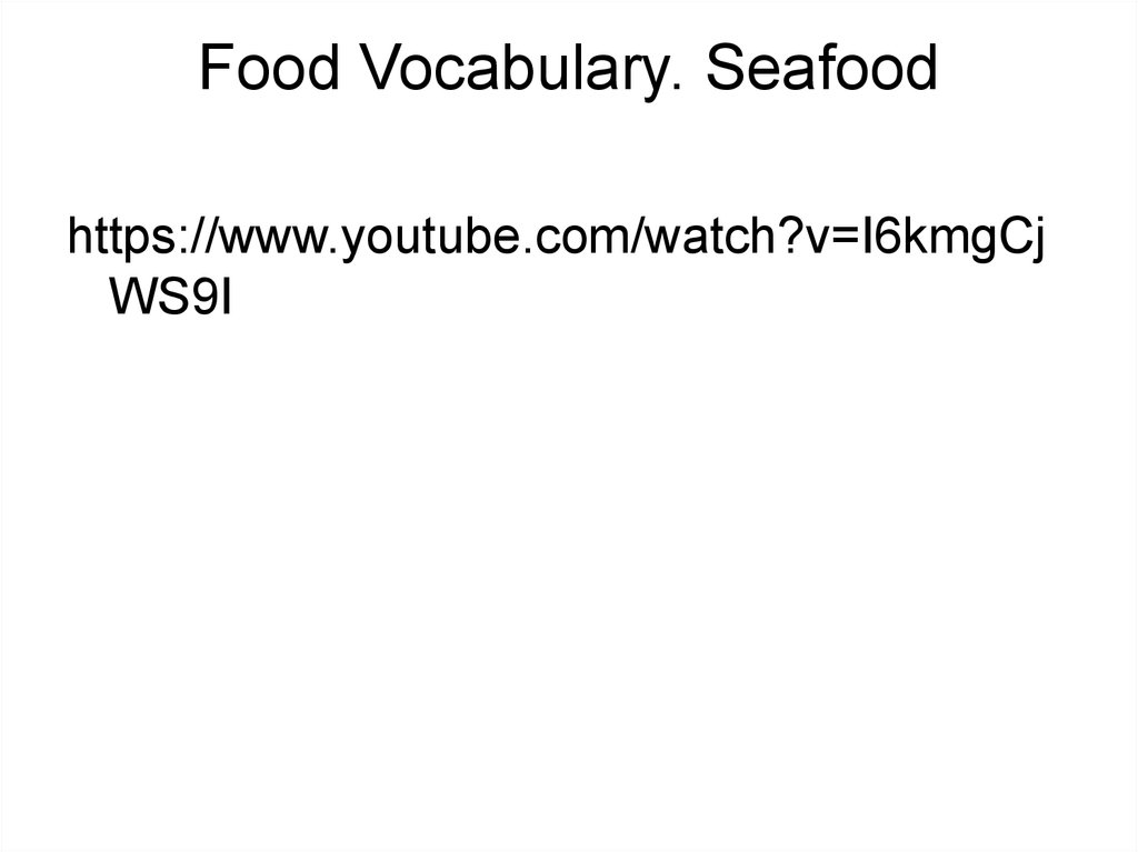 Food Vocabulary. Seafood