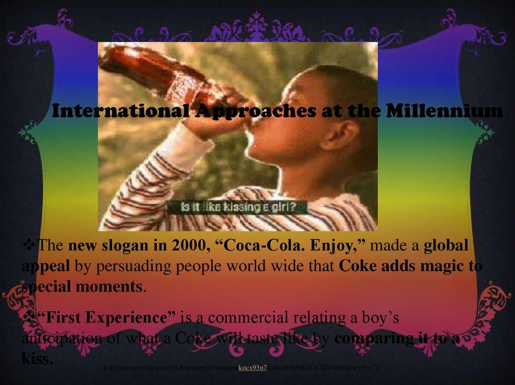 History Coca-Cola - online presentation