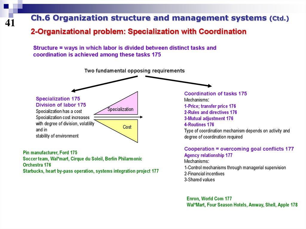 starbucks organisational structure