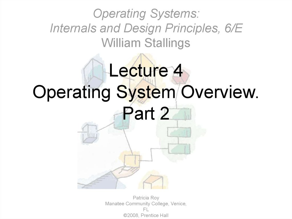 Lecture 4 Operating System Overview. Part 2