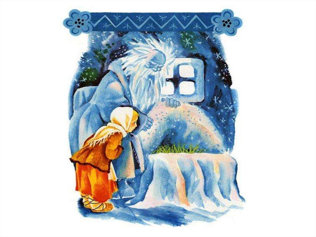 Добрый воскресный, план в картинках к сказке мороз иванович