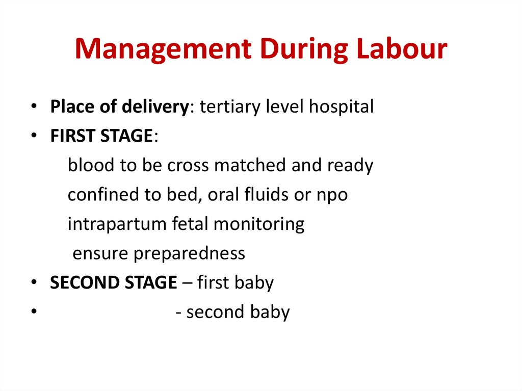 Management During Labour