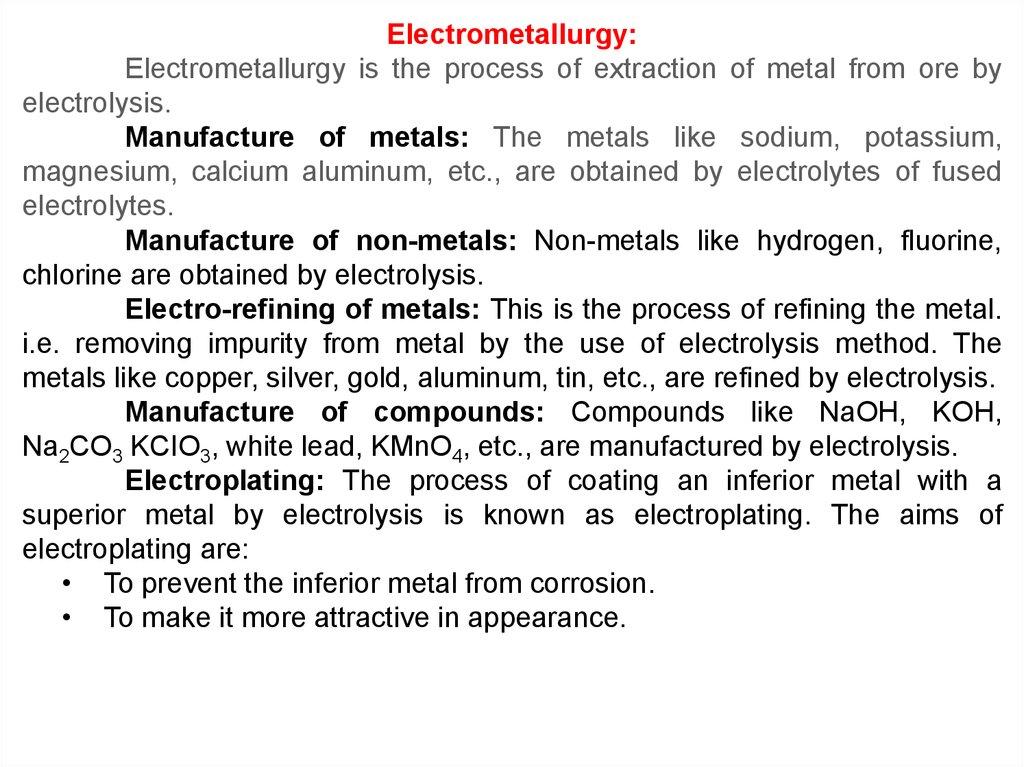 Electrolysis - презентация онлайн