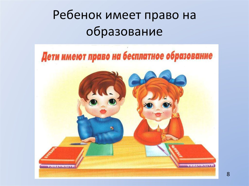 Рисунок я имею право на образование
