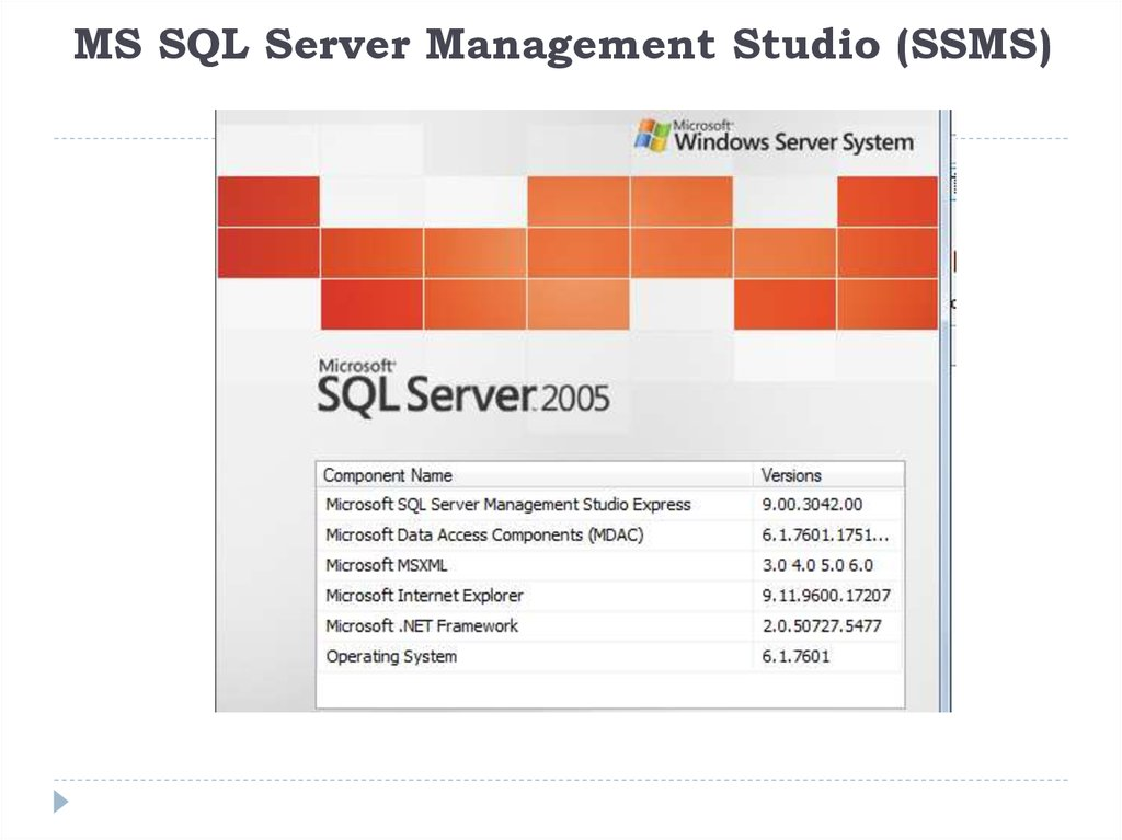 MS SQL Server Management Studio (SSMS)
