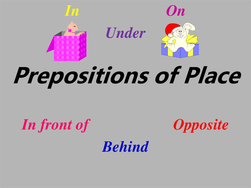Prepositions of place:...