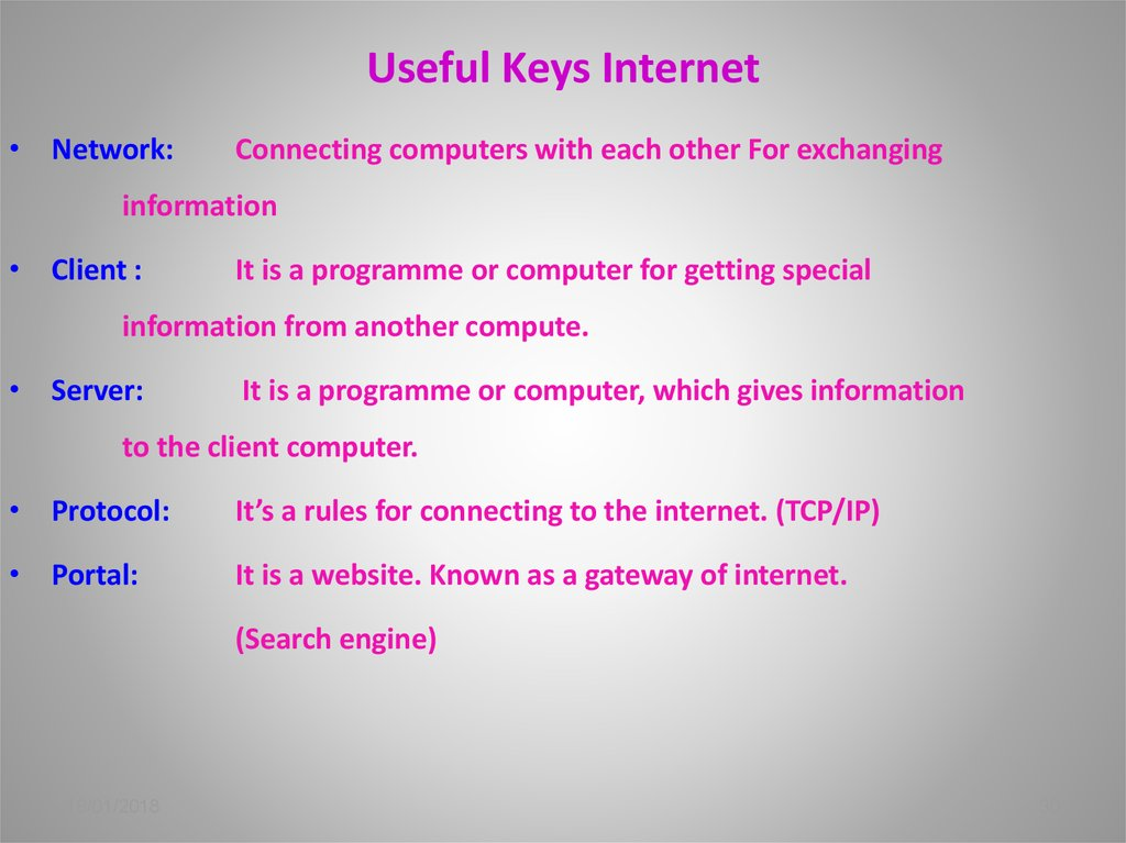 Useful Keys Internet