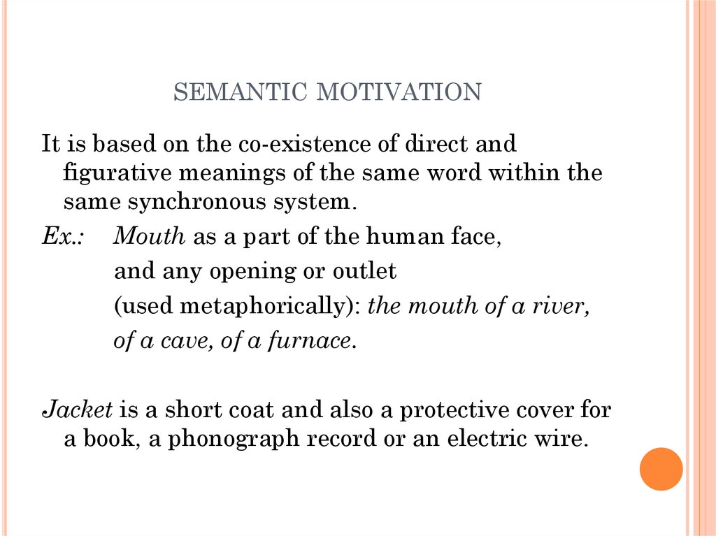 semantic motivation