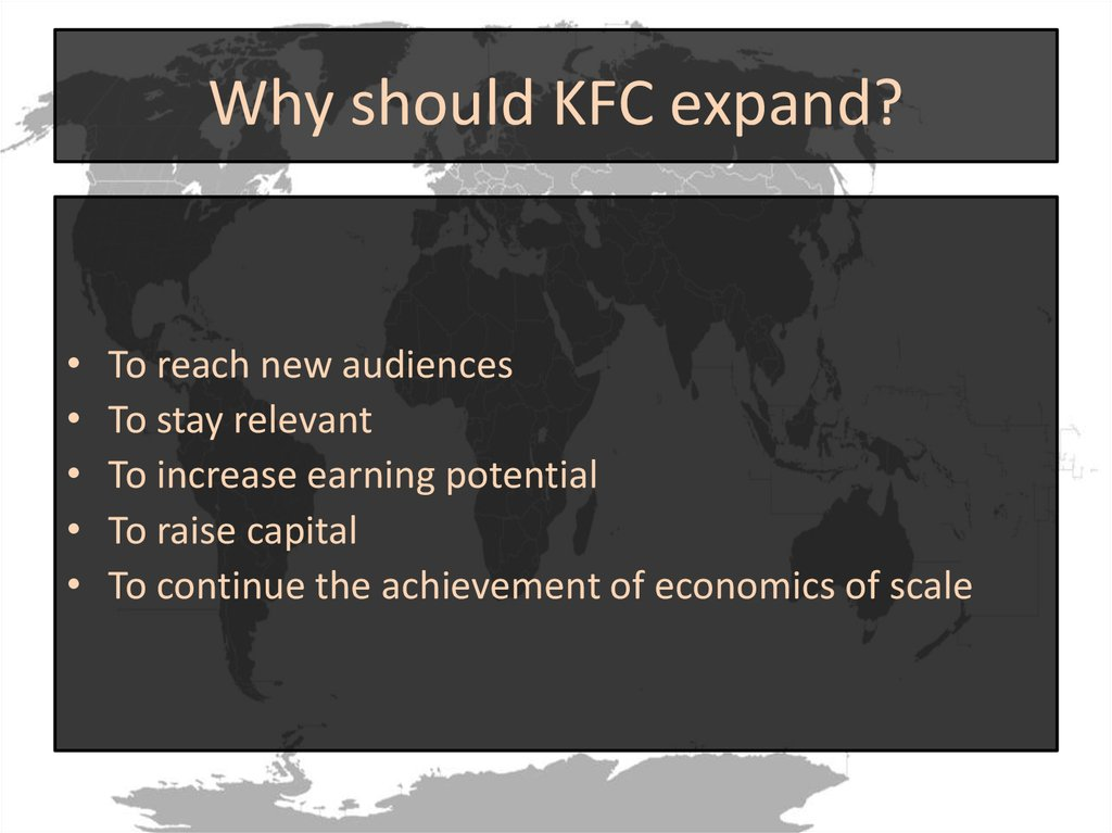 kfc expansion