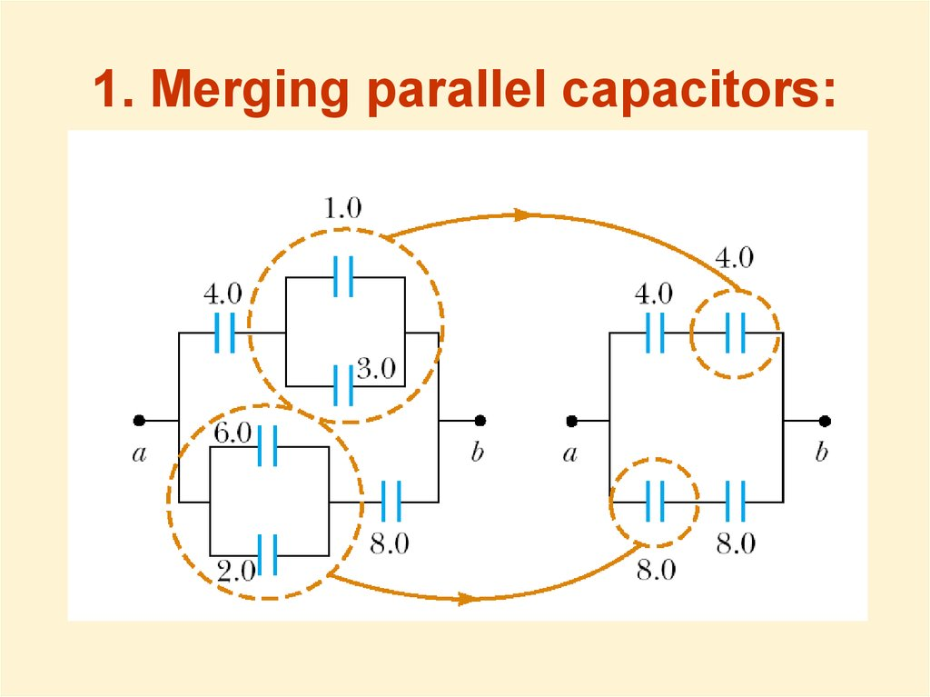 1. Merging parallel capacitors: