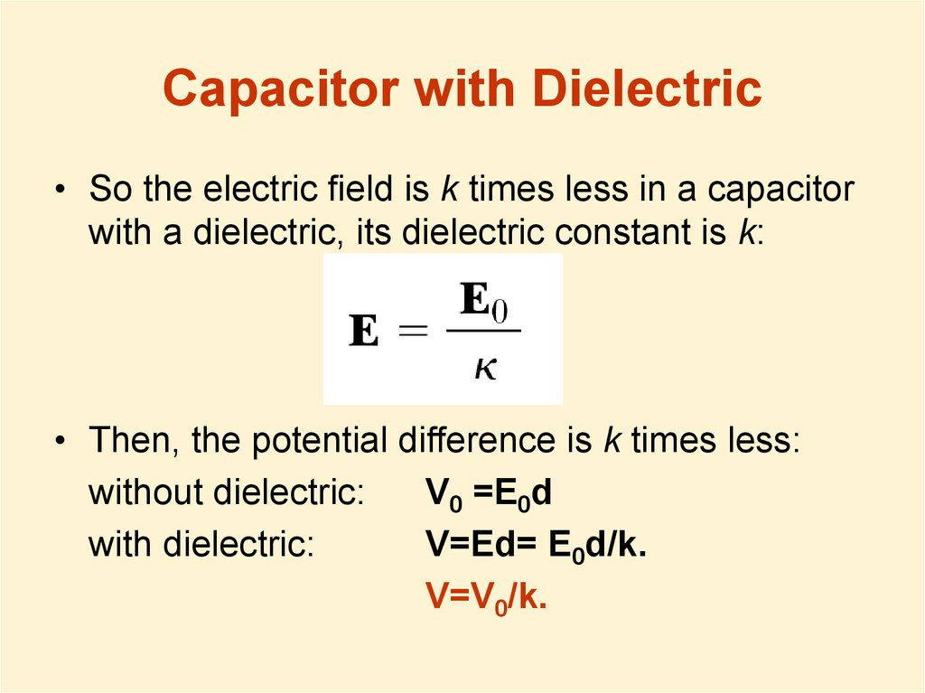 Capacitor with Dielectric