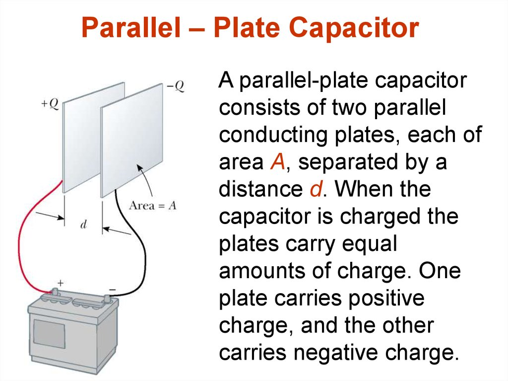 Parallel – Plate Capacitor