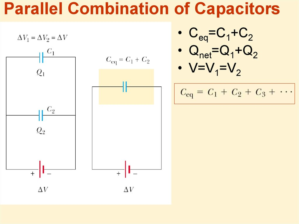 Parallel Combination of Capacitors