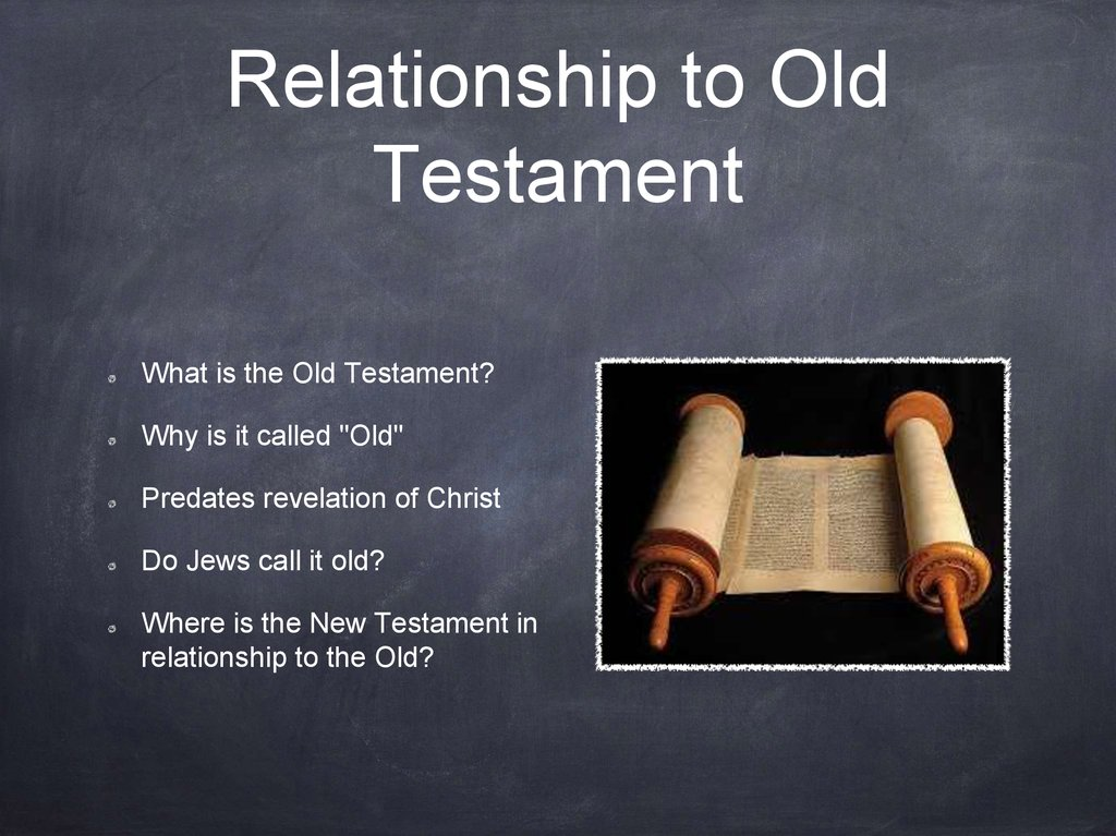 Relationship to Old Testament