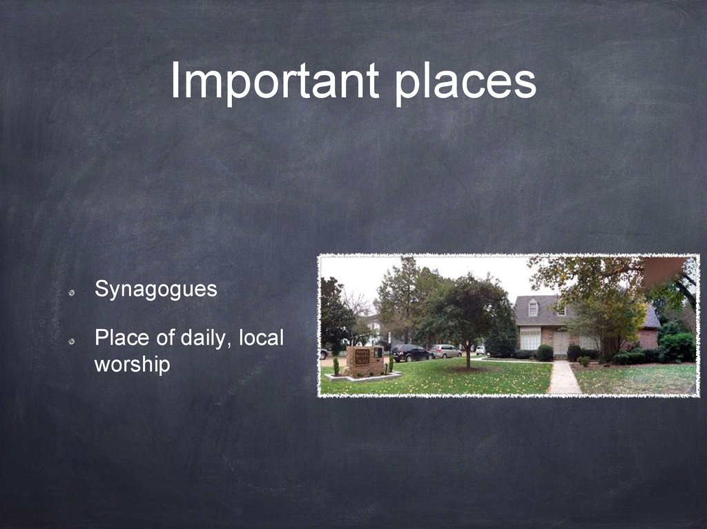 Important places