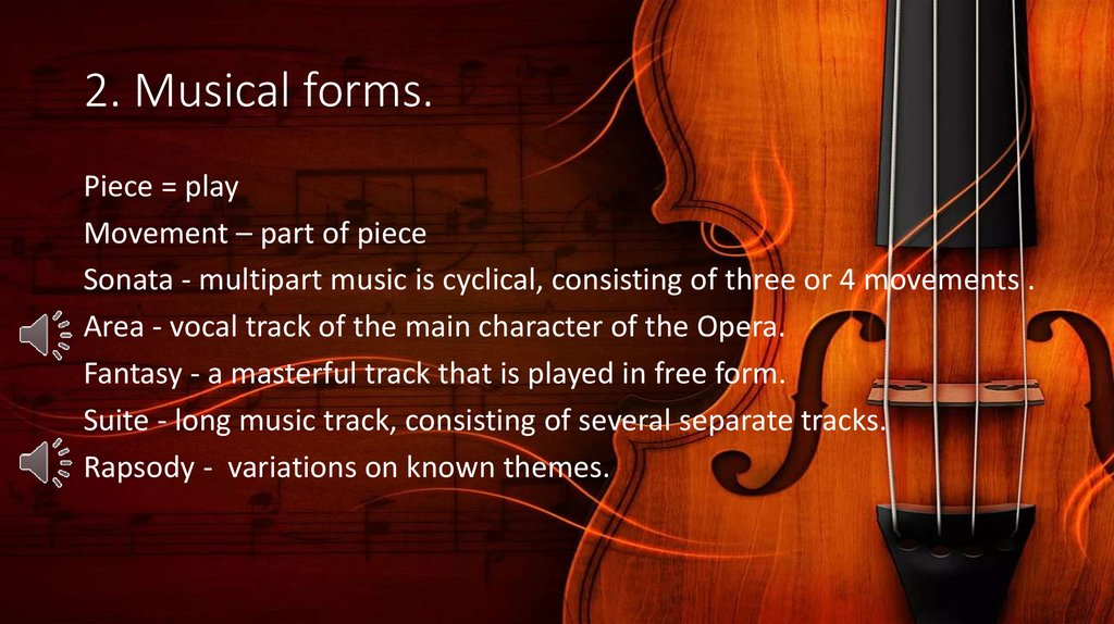 2. Musical forms.