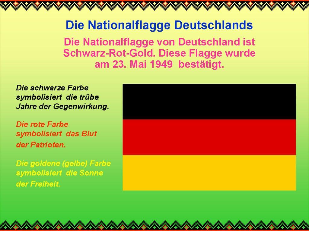 deutsche flagge farben bedeutung