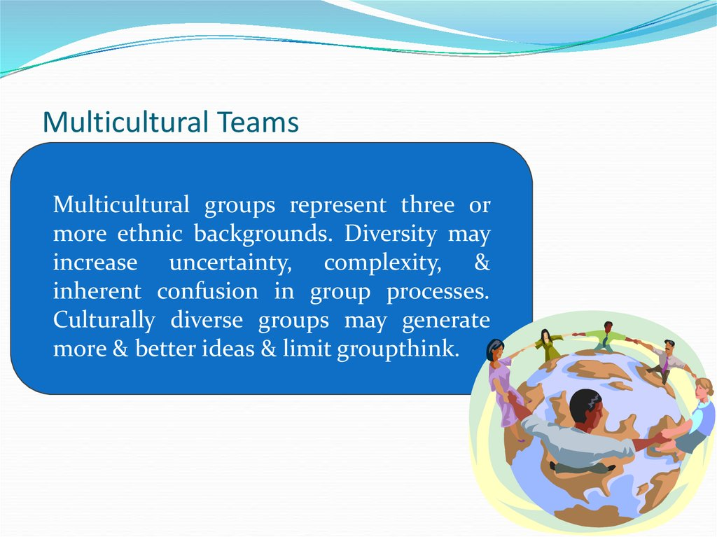 teams multi cultural Clients in multicultural environments cultural diversity has a huge affect on projects there are often major differences in cultures – realize that.