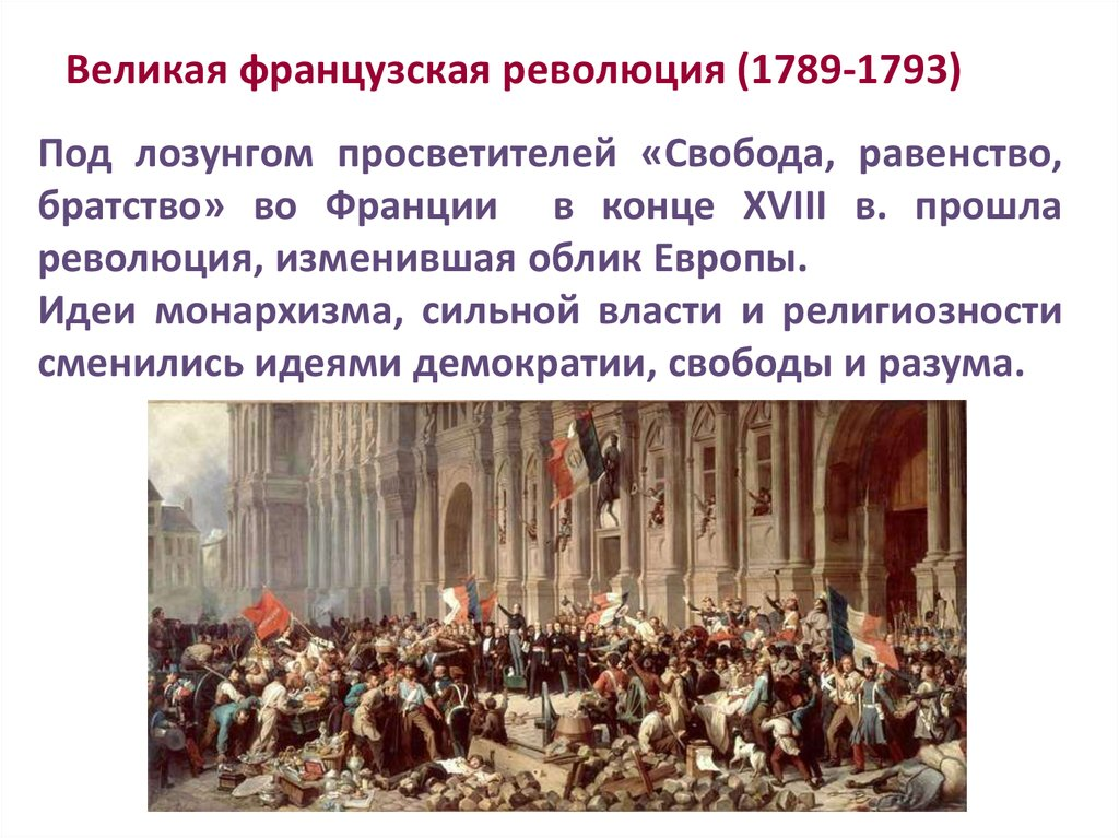 the changes brought about by the french revolution starting in 1789 ad The 18th century, also referred to as revolutionary war and the french revolution the 18th century also saw the spread of com/18th-century-timeline.