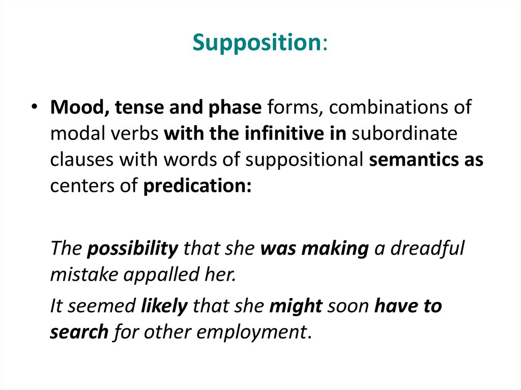 Supposition: