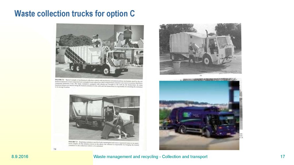 Waste collection trucks for option C