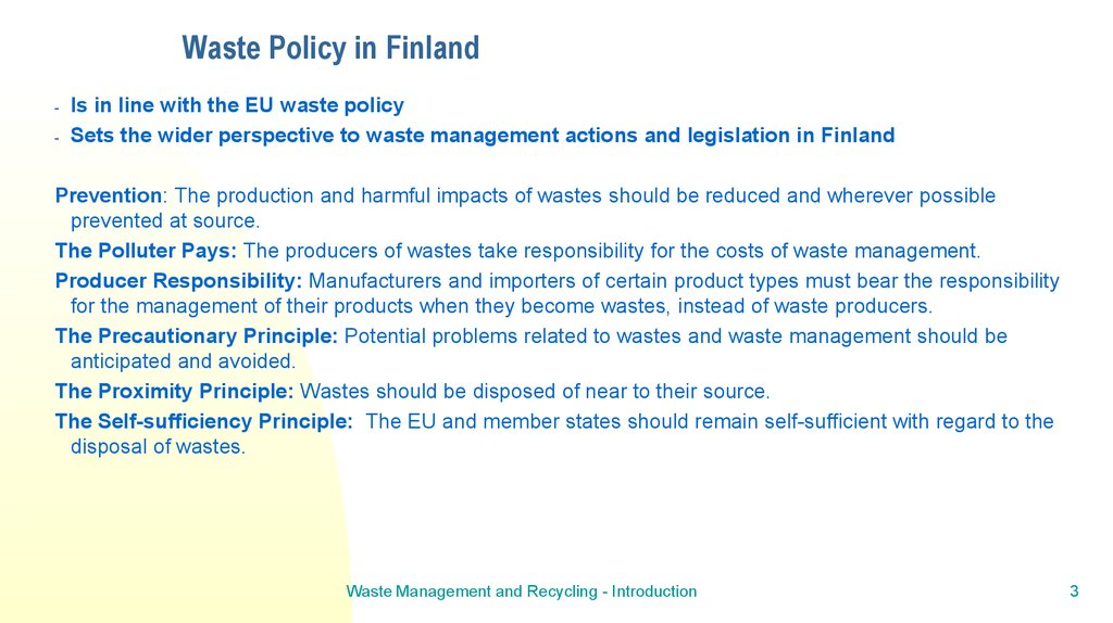 Waste Policy in Finland