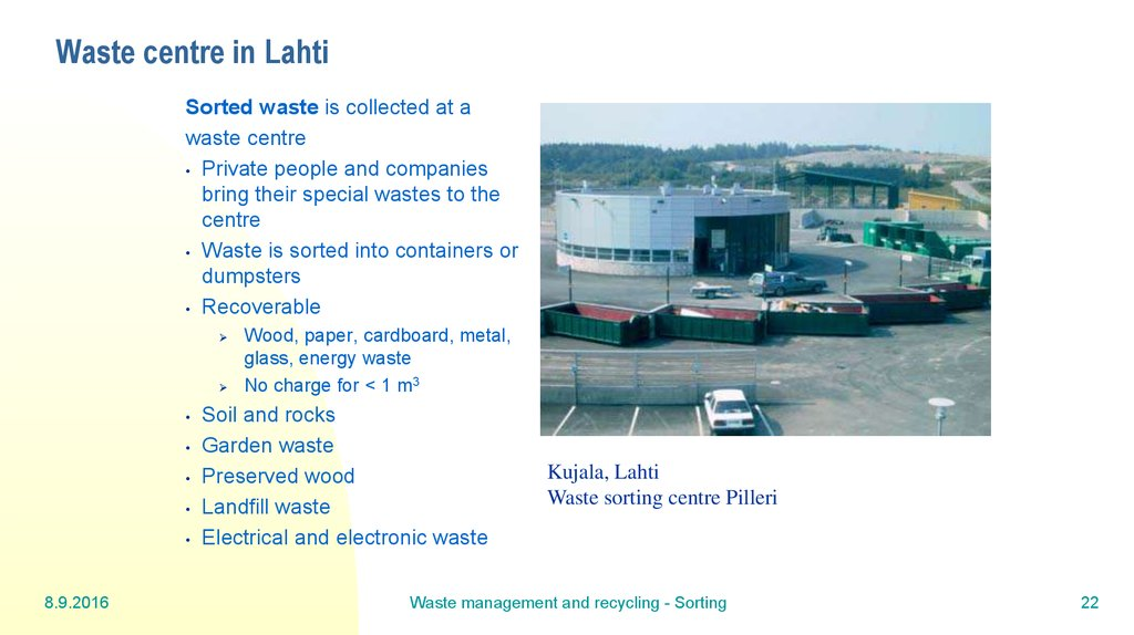Waste centre in Lahti