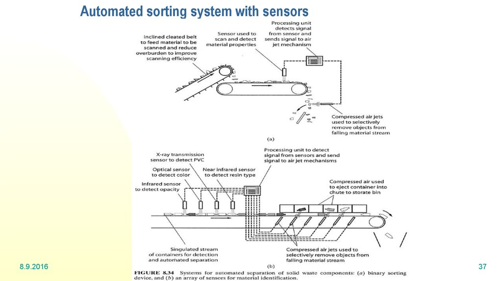 Automated sorting system with sensors