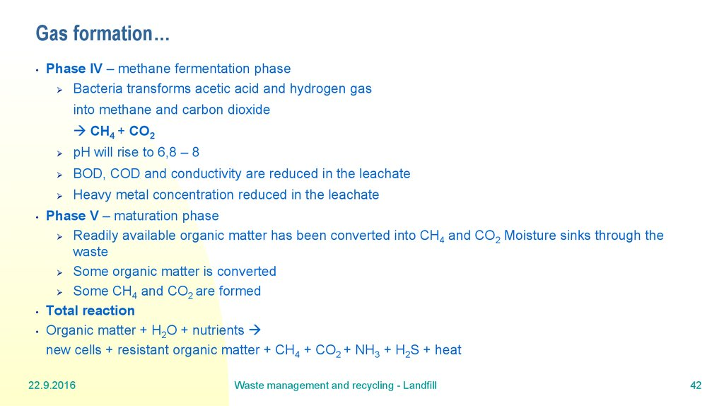 Gas formation…