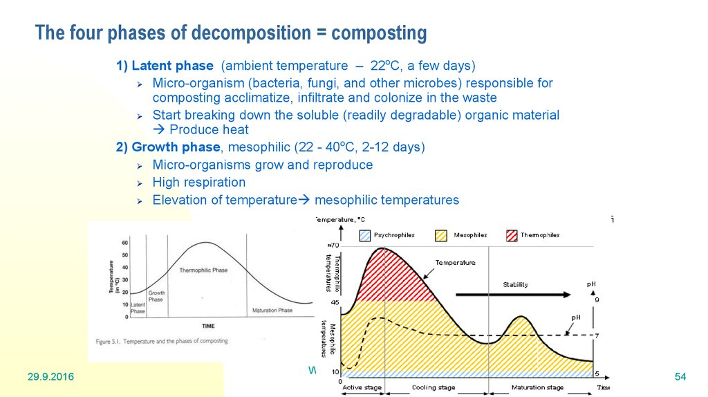 The four phases of decomposition = composting