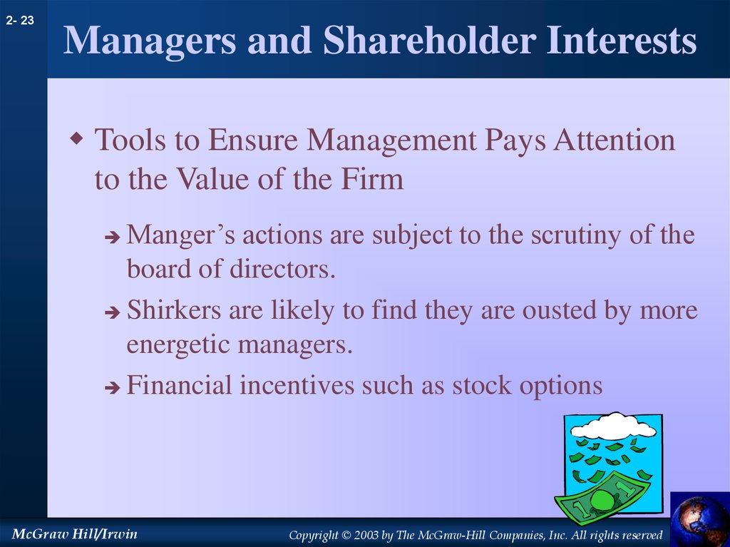 Managers and Shareholder Interests
