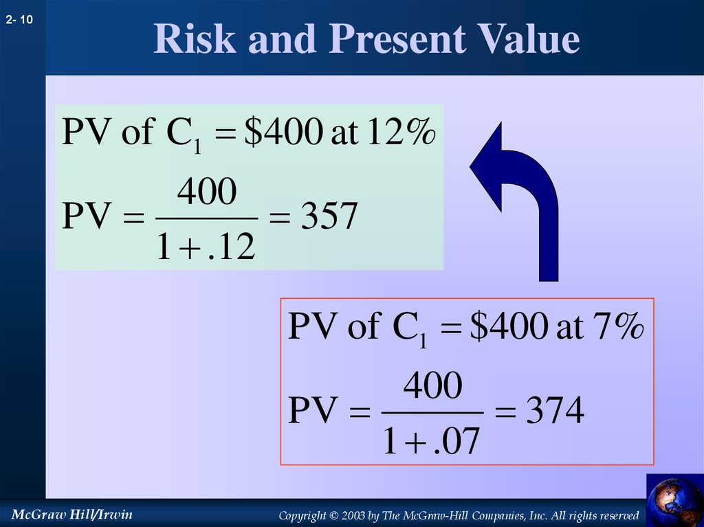 Risk and Present Value
