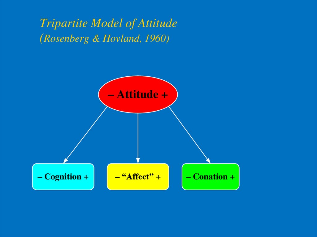 Tripartite Model of Attitude (Rosenberg & Hovland, 1960)