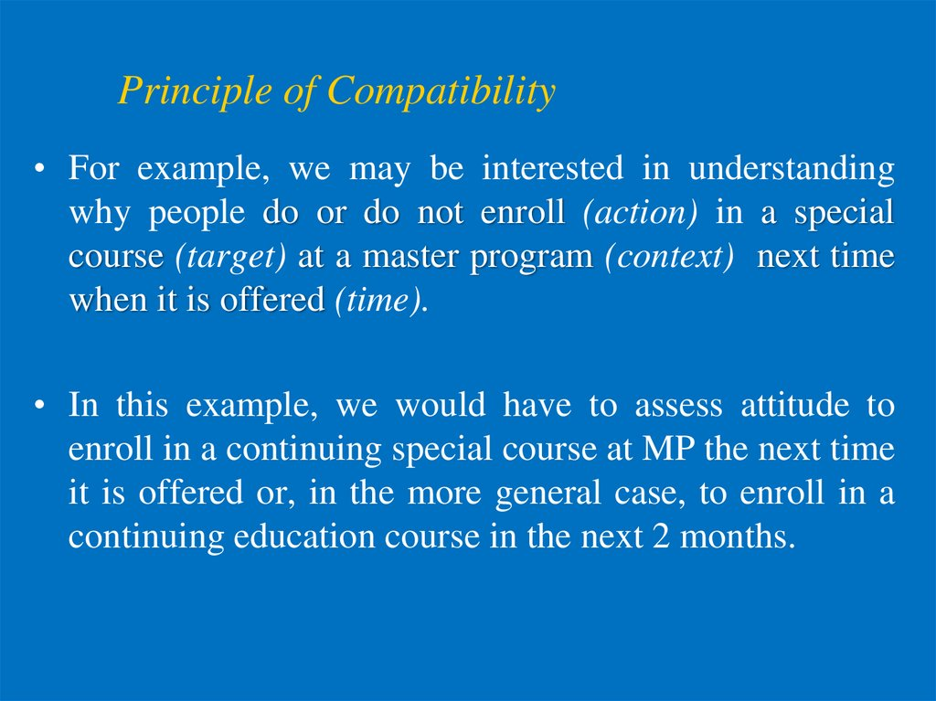 Principle of Compatibility