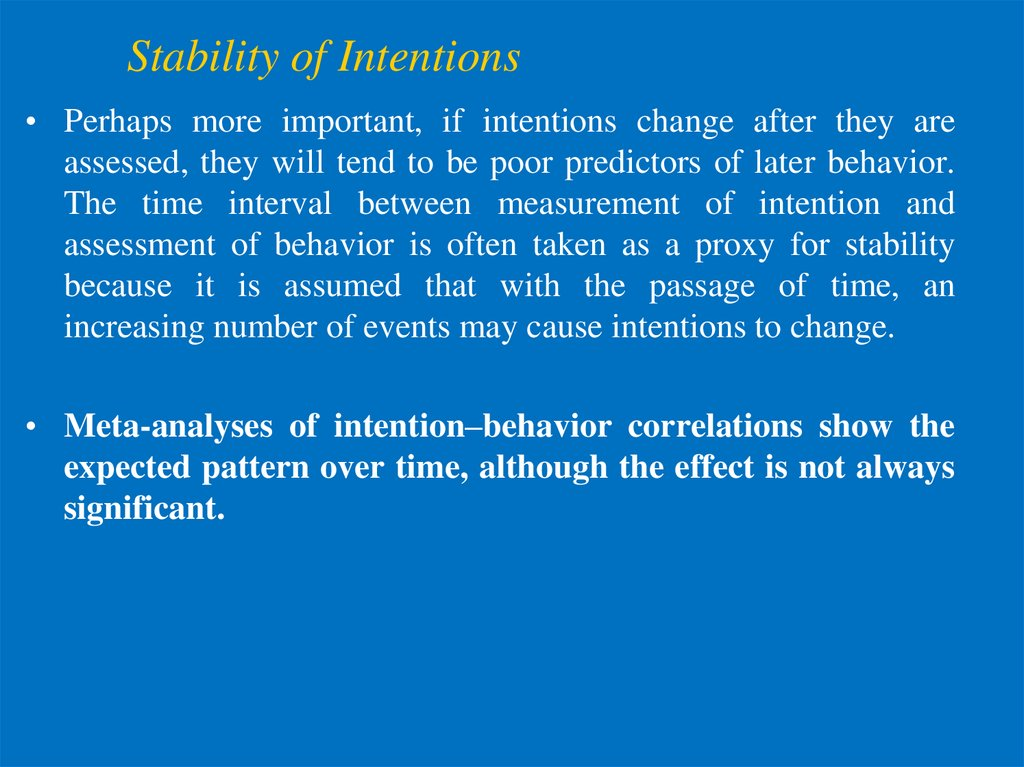 Stability of Intentions