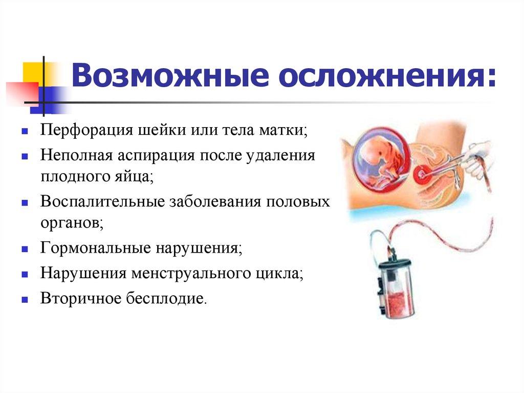 осложнения вакуумного аборта