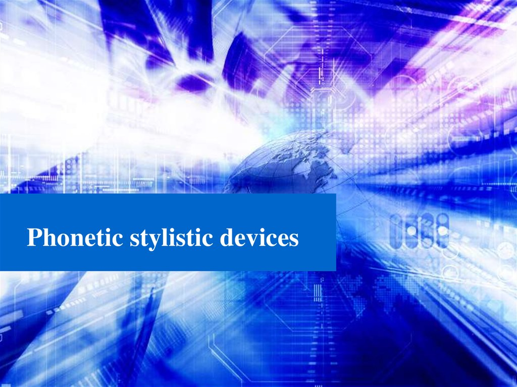 Phonetic stylistic devices