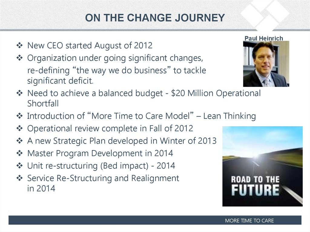 ON THE CHANGE JOURNEY