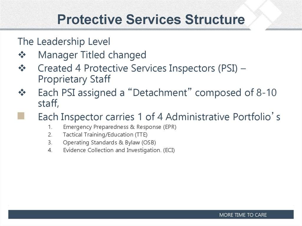 Protective Services Structure