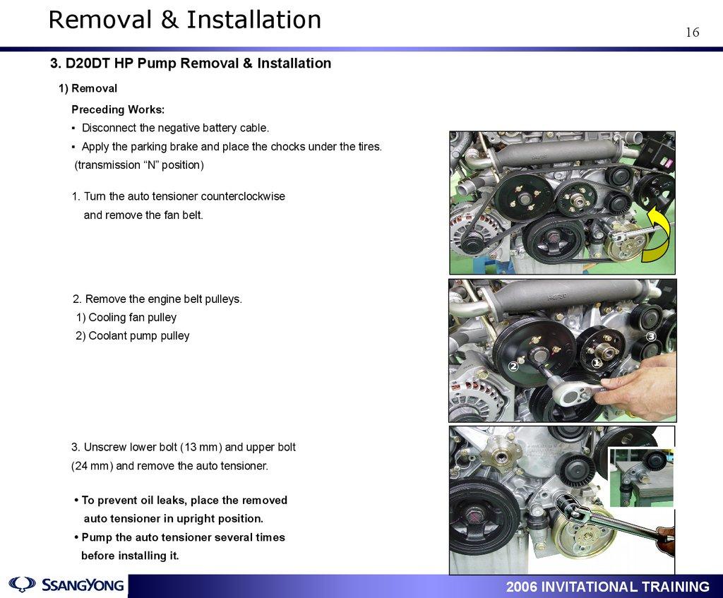 ACTYON Service Training  Engine : D20DT / D27DT  Engine