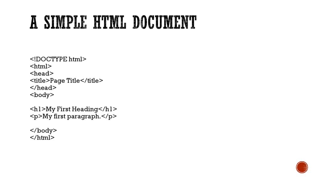 A Simple HTML Document