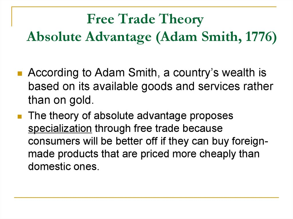 absolute advantage trade theory