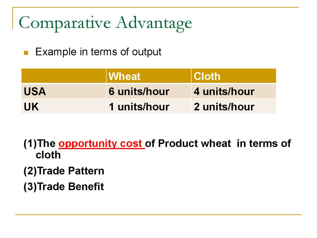Unit Three. International Trade Theories - online presentation